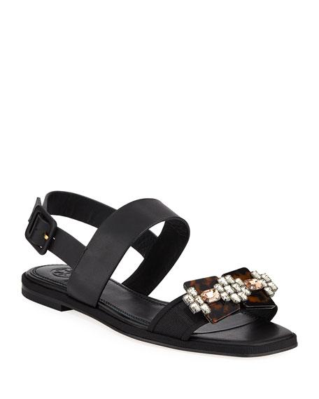 Delaney Embellished Leather Sandal