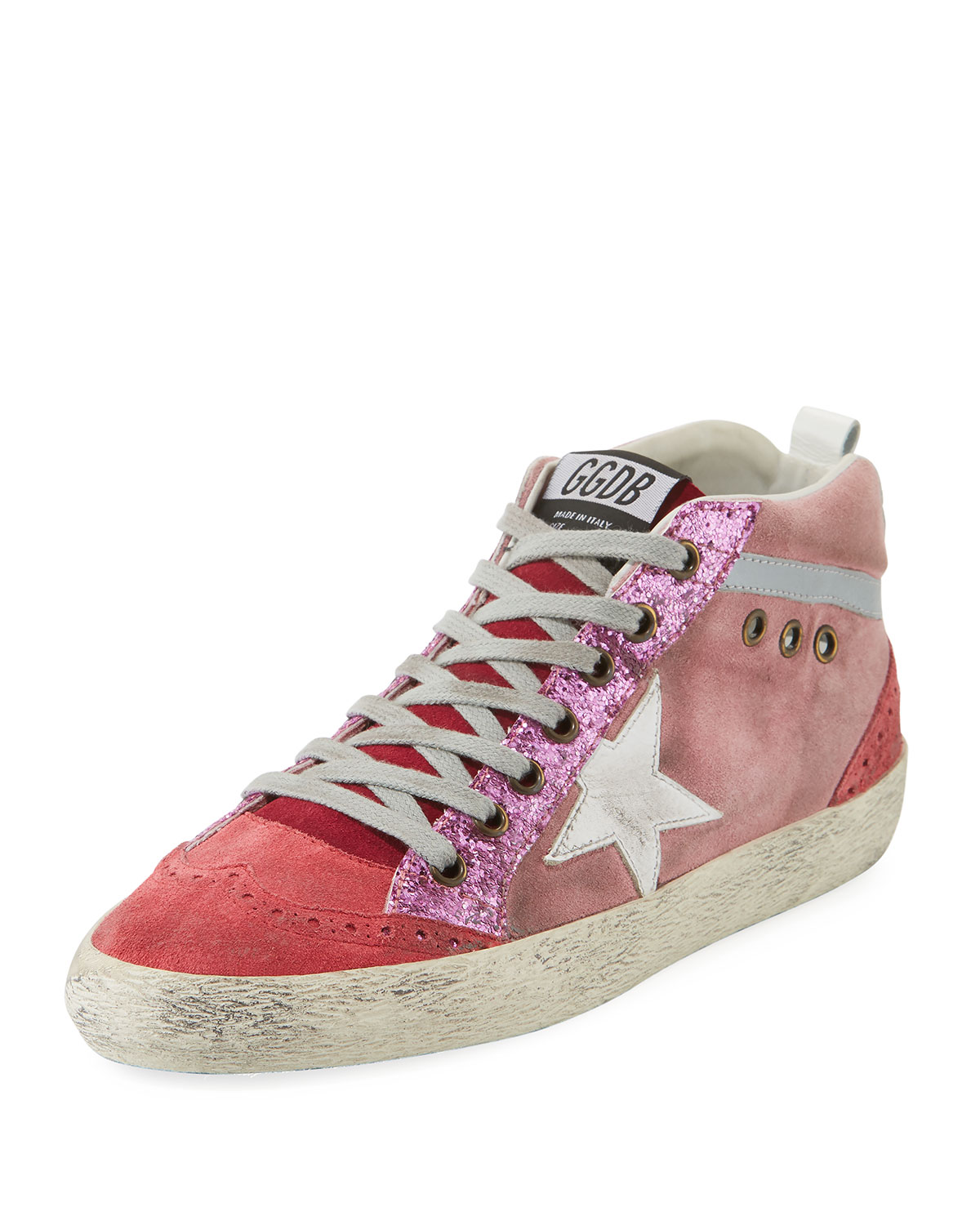 eb14caee72f98 Golden Goose Mid-Top Star Glitter Sneakers