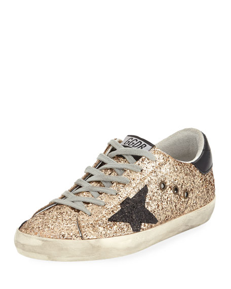 Golden Goose Superstar Glitter Fabric Low-Top Sneaker