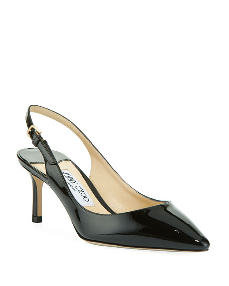 Jimmy Choo Erin 60mm Patent Leather Slingback Pump