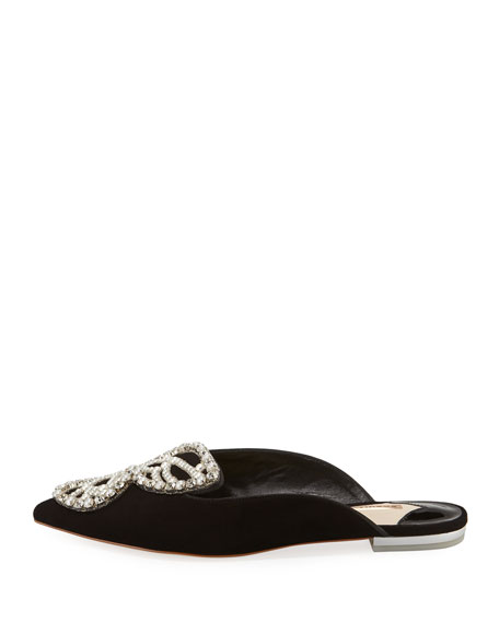 Bibi Butterfly Pearly Slipper Mules