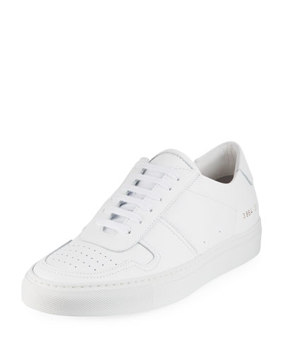 Ball Low-Top Leather Sneakers