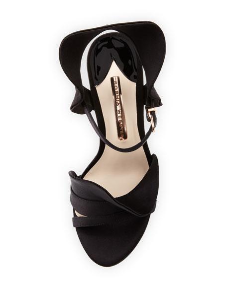 Lucia Ruffle Satin Sandals