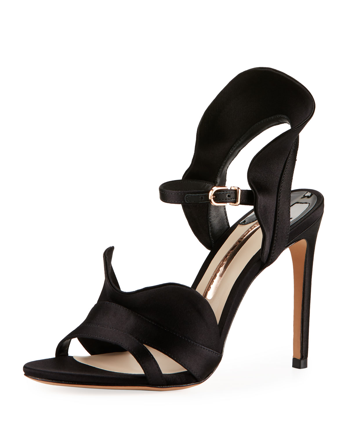 Sophia Webster Lucia Ruffle Satin Sandals Neiman Marcus