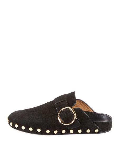 Mirvin Studded Suede Mule Flat