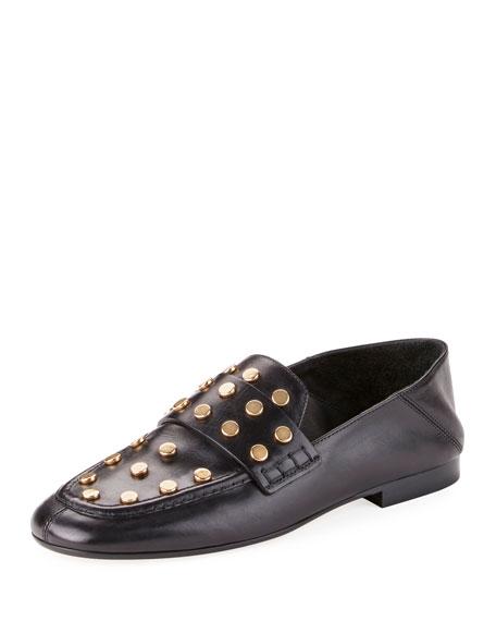 Feenie Studded Flat Fold-Down Loafer