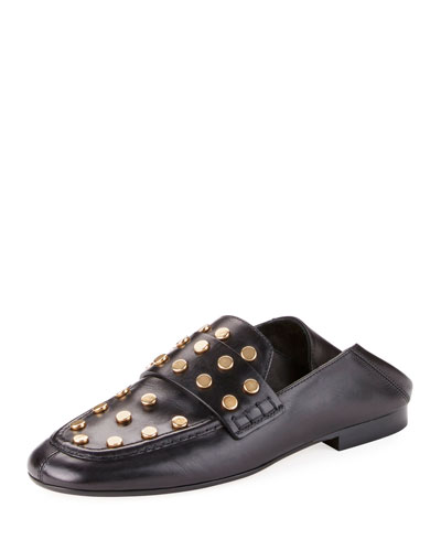 Feenie Studded Flat Fold-Down Loafer