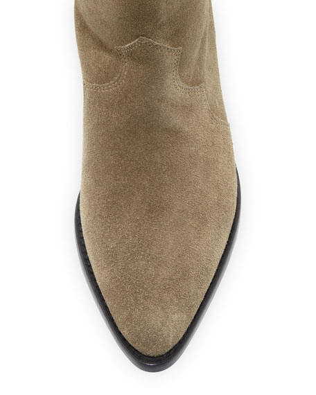 Denzy Point-Toe Western Knee Boot