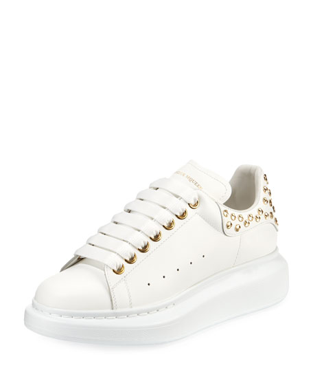 Alexander McQueen Pelle Studded Low-Top Platform Sneakers