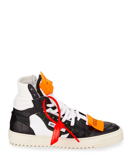 Low 30 Leather Platform High-Top Sneakers