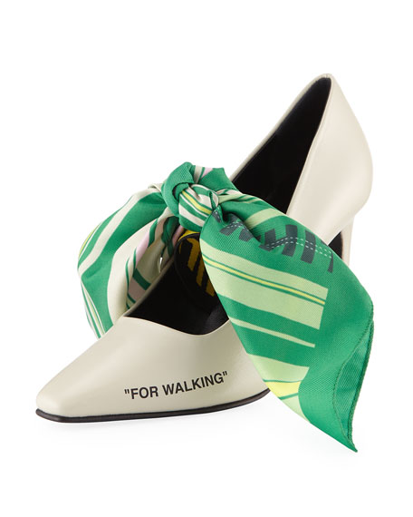 Off-White Scarf For Walking Pumps
