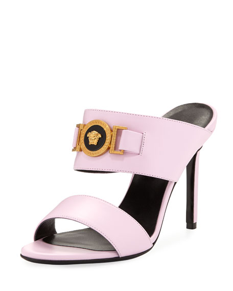 Versace Icon Medusa Calf Leather Mule Slide Sandals