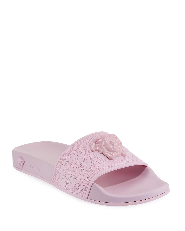 447f4ae83 Versace Palazzo Medusa Rubber Pool Slide Sandal