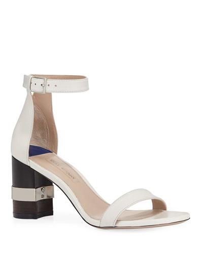 Saturn Leather 80mm Block-Heel Sandal