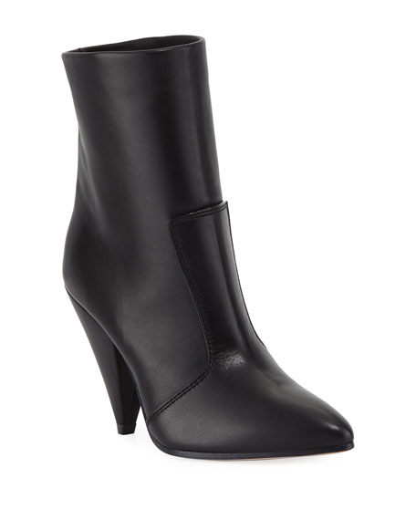 Atomic West Leather Ankle Boots, Jet