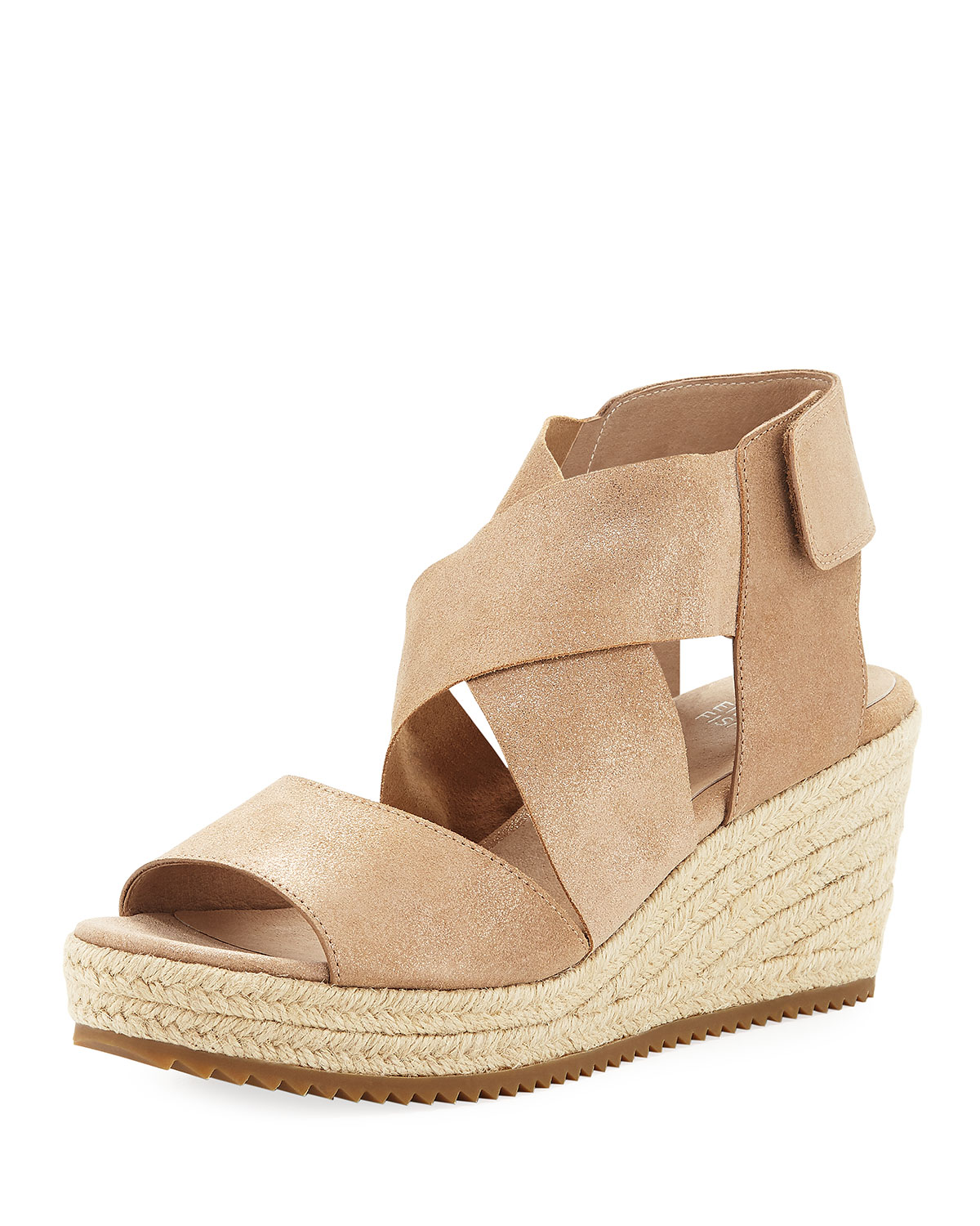 aecf6c5cc058 Eileen Fisher Willow Starry Suede Wedge Espadrille Sandal