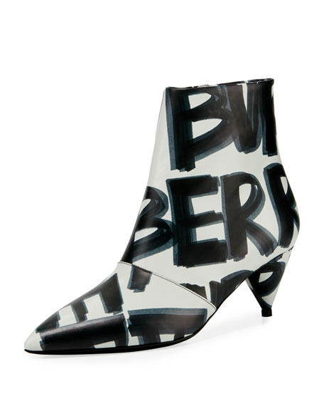 Burberry LF Wilsbeck Marker Graffiti Booties