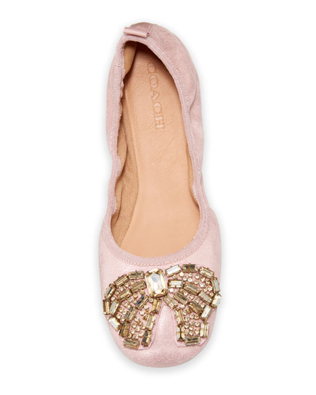 Margot Crystal-Bow Ballet Flats