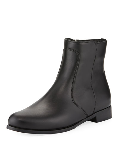 Sophie Leather Zip Boots