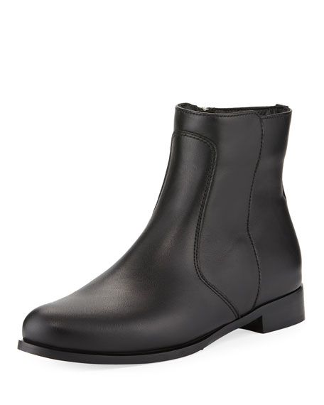LA CANADIENNE Sophie Leather Zip Boots in Black