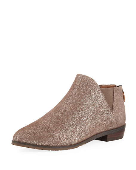 Mr/Ms Gentle Souls Souls Souls Neptune Flat Metallic Leather Chelsea Booties   Consumers first 180d0f