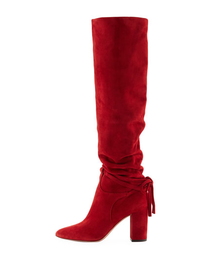 Milano Scrunched Knee-High Boots