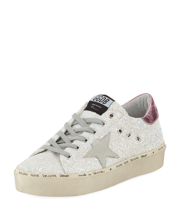06b5df1b2e03 Golden Goose Hi Star Glitter Platform Sneaker