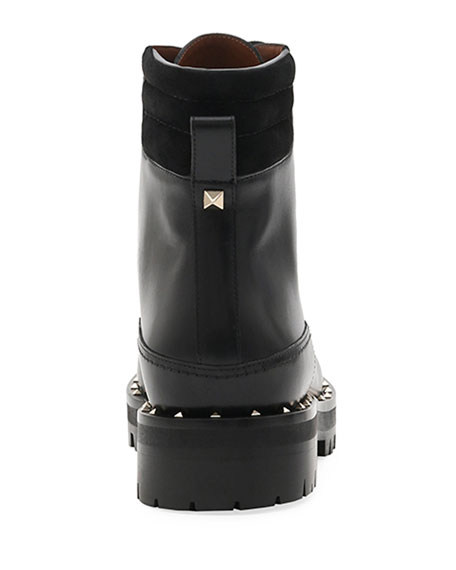 Soul Rockstud Leather Combat Boots