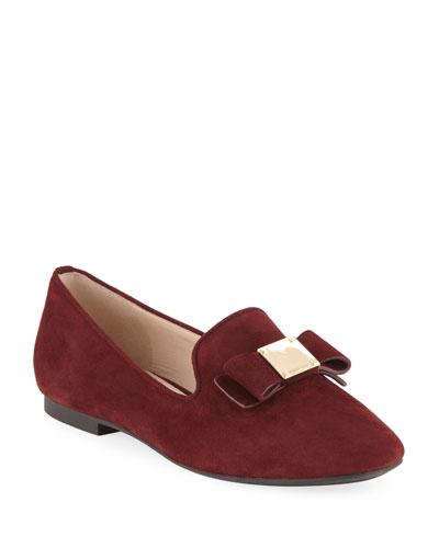 Tali Grand Suede Bow Loafers