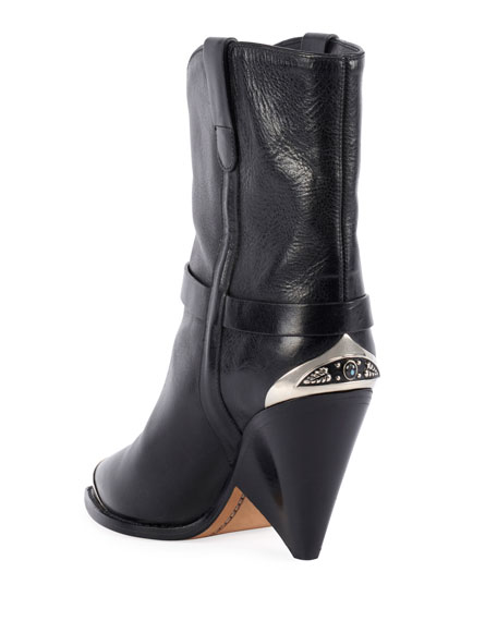 Lamsy Low Leather Western Boot