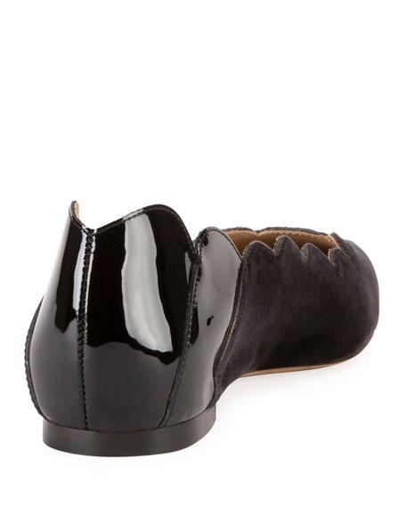Lauren Scalloped Point-Toe Ballet Flats