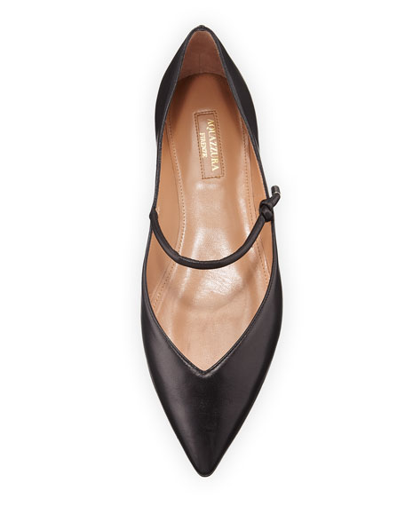 Stylist Leather Mary Jane Ballet Flats