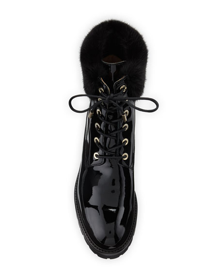 The Heilbruner Combat Boots with Fur