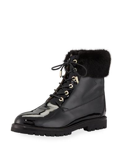 The Heilbruner Combat Boots with Fur