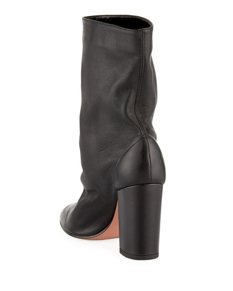 Boogie Scrunch Leather Booties