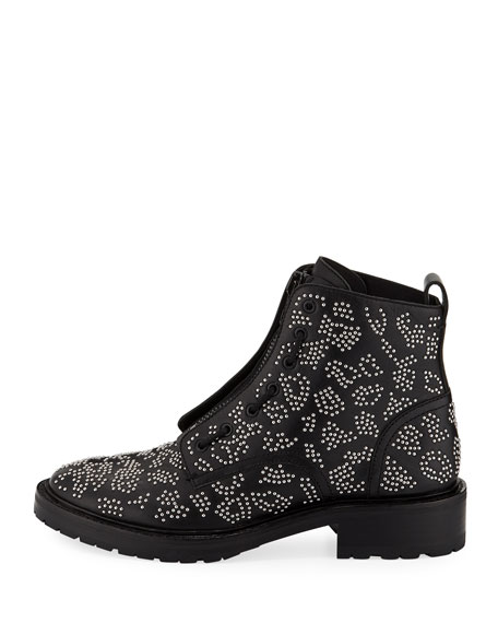 Cannon Studded Leather Zip Boots