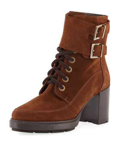 Irene Suede Stitched Booties