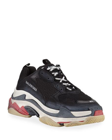 Balenciaga Triple S Mesh & Leather Trainer Sneaker,
