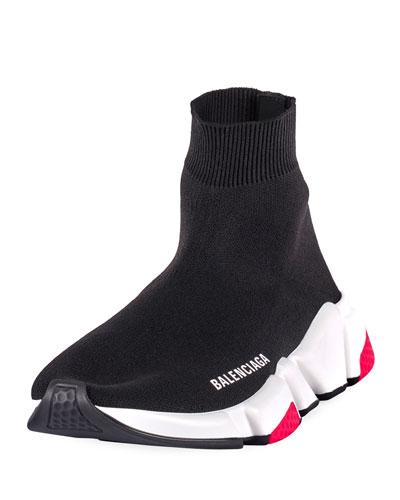 Speed High-Top Stretch Sock Sneaker