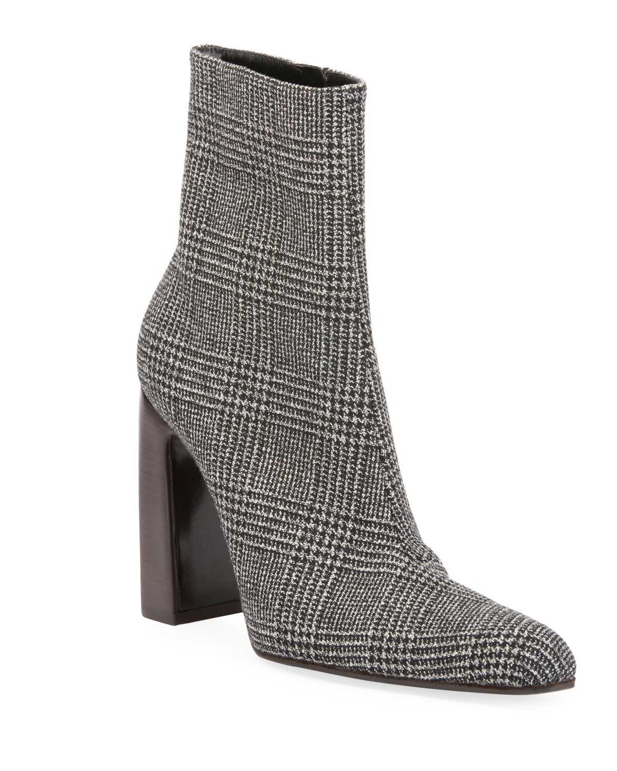 1a6f900b6f9 Balenciaga Prince of Wales Plaid Block-Heel Booties