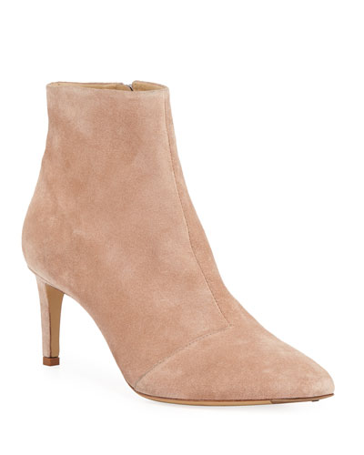 Beha Suede Zip-Up Booties