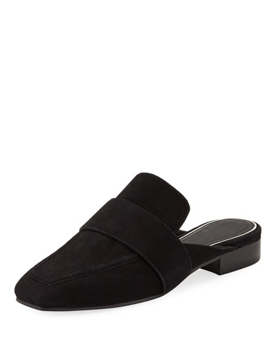 Aslen Suede Loafer-Style Mules