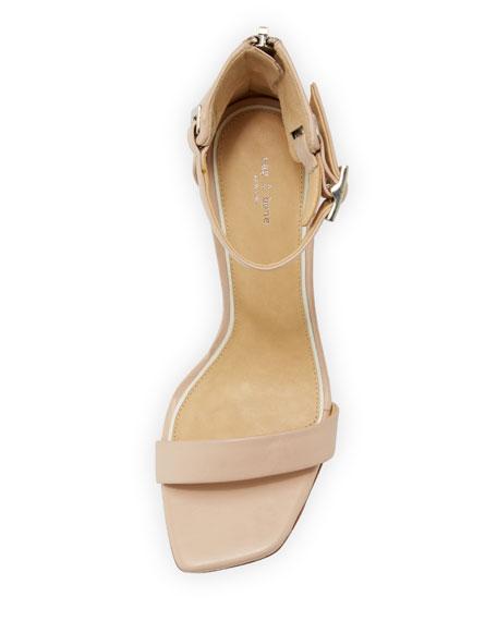 Ellis Leather Ankle-Wrap Sandal