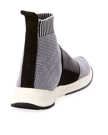 Cameron Knit Logo-Strap Running Sock Sneakers