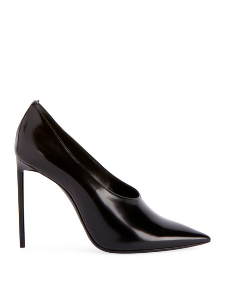 Teddy High-Vamp Patent Leather Pumps