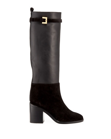 Morrison Chic Leather/Suede Knee Boot