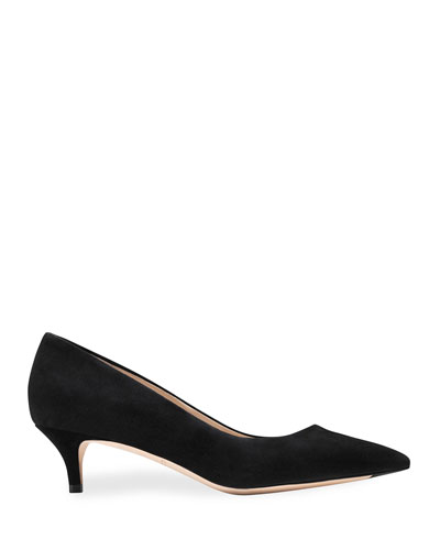 Vesta Grand Suede Point-Toe Pumps