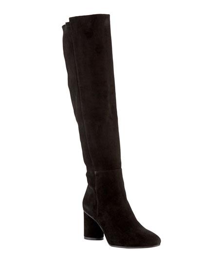 Eloise 75mm Suede Knee Boots by Stuart Weitzman