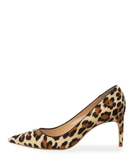 Rio Leopard Animal-Print Mid-Heel Pumps