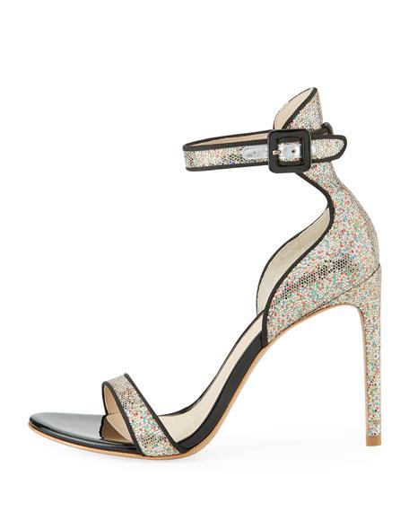 Nicole Coarse Glitter Sandals